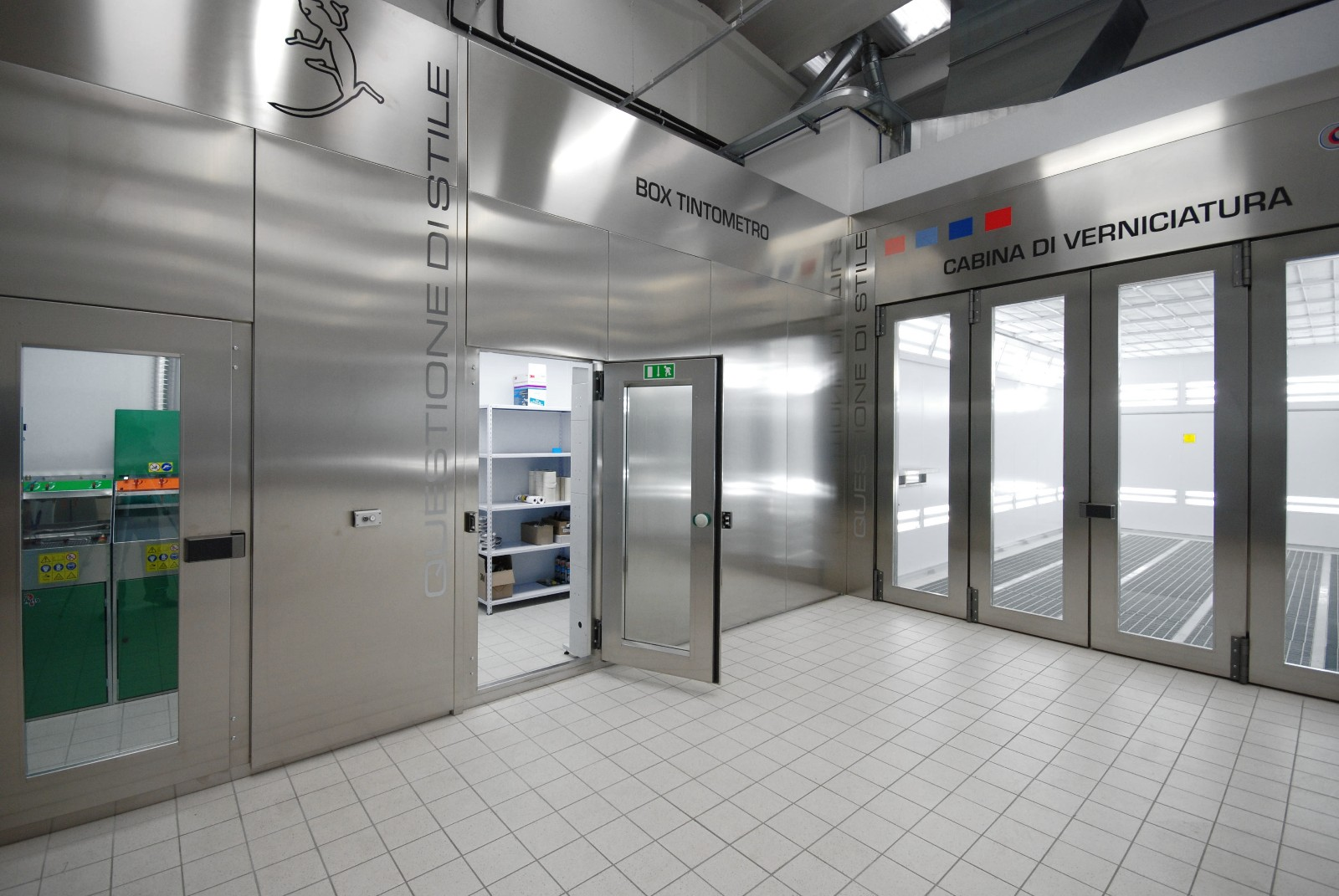 Eurotecno CMC Paint Room finished in Stainless Steel
