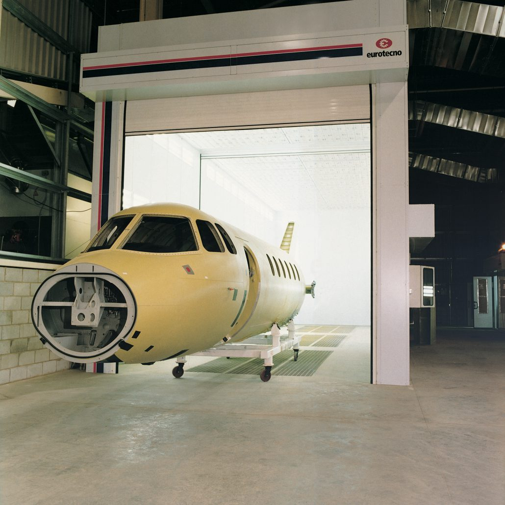 Aerospace Spray Booths - Jet Fuselage