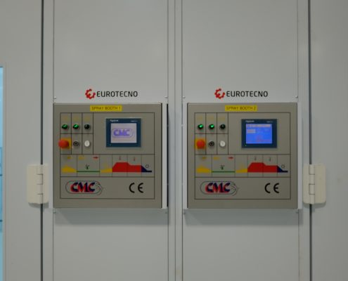 CMC PLC Touch Screen Control Panel Spray Booth installation by Eurotecno