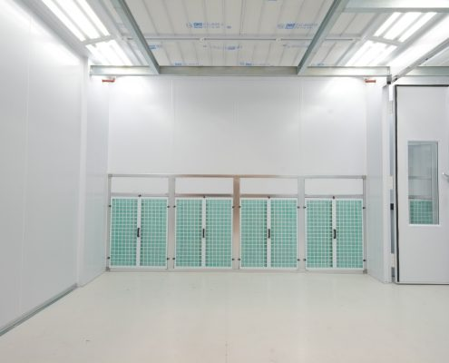 Industrial Spray Booth Internal End Extraction