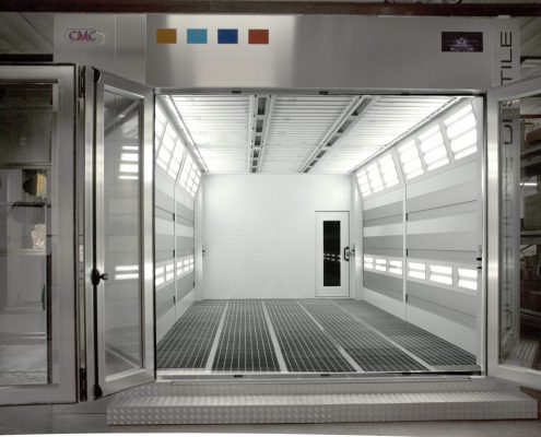 Raptor infrared spray booth Doors Open – IR Closed