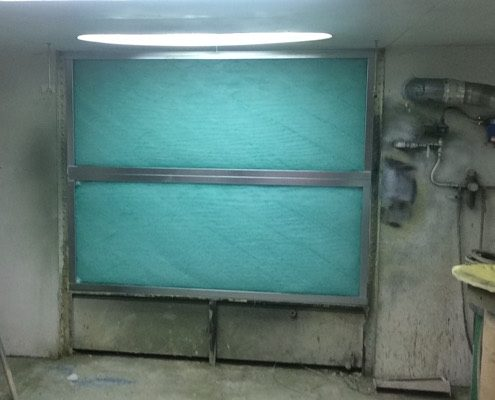 Upgrade Water Wash booth to dry filtration